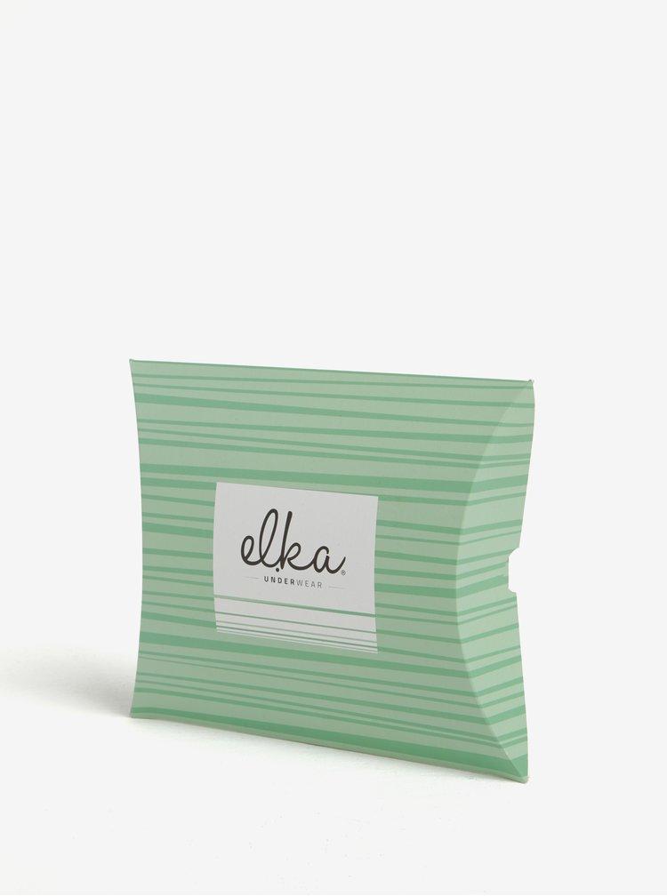 Zelené pánské puntíkované boxerky El.Ka Underwear