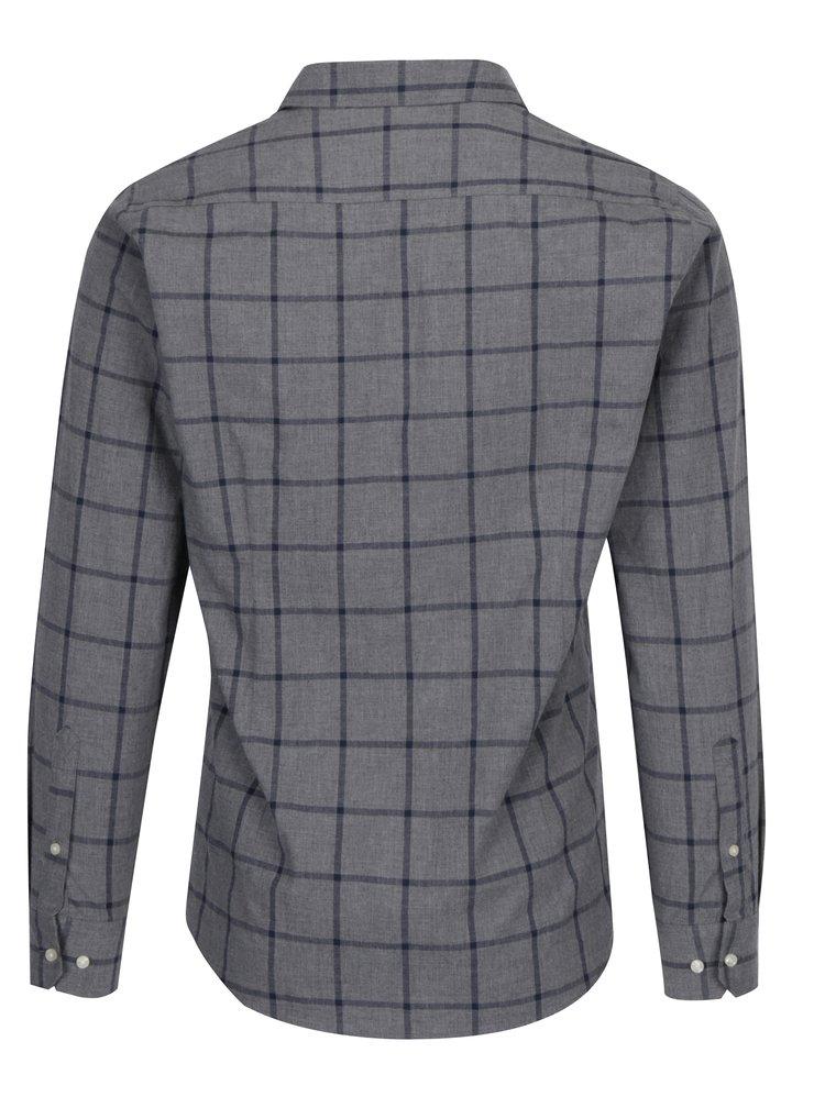 Šedá kostkovaná taloired fit košile Barbour Baxter