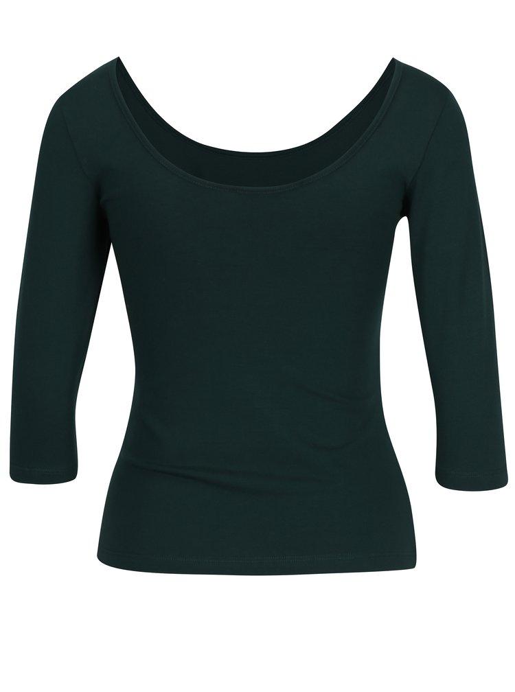 Tmavě zelené tričko s kulatým výstřihem ZOOT