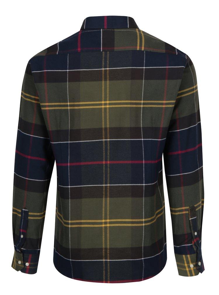 Modro-zelená kostkovaná tailored fit košile Barbour Rannoch