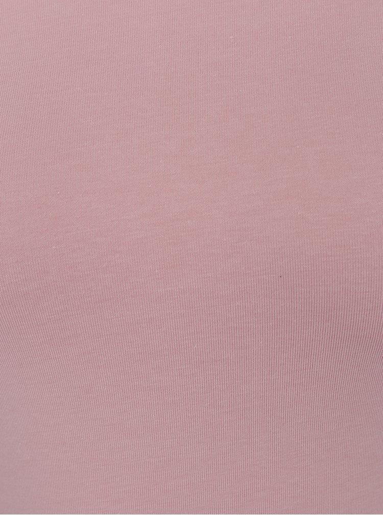 Starorůžové tričko s kulatým výstřihem ZOOT