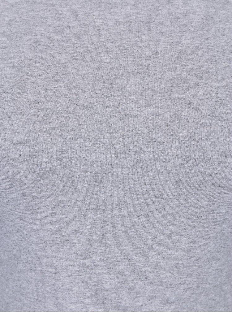 Šedé tričko s kulatým výstřihem ZOOT