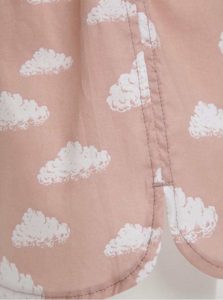 Růžové dámské trenky s mraky El.Ka Underwear