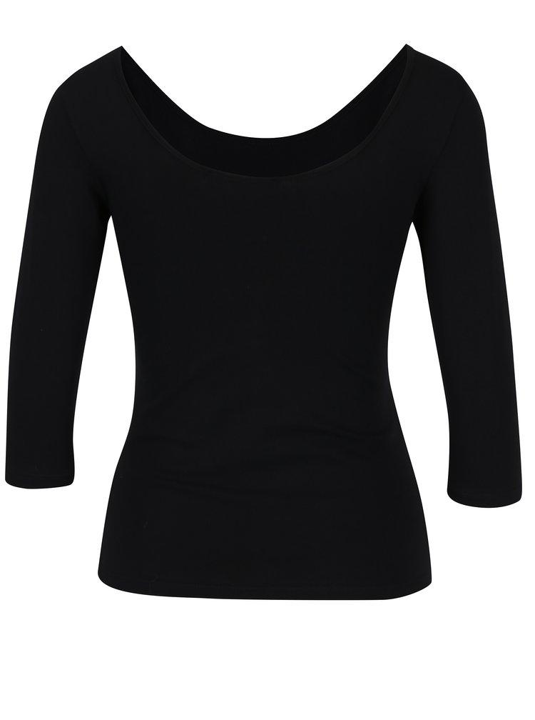 Černé tričko s kulatým výstřihem ZOOT