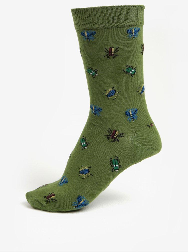 Zelené pánské ponožky se vzorem Barbour Beetle