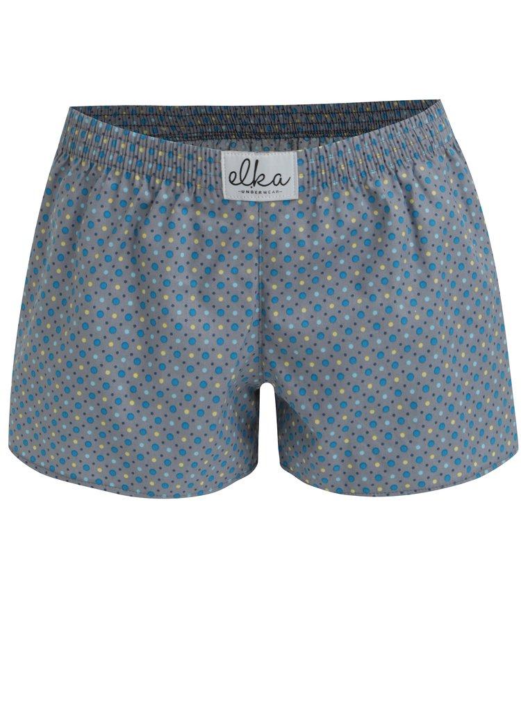 Šedé dámské puntíkované trenky El.Ka Underwear