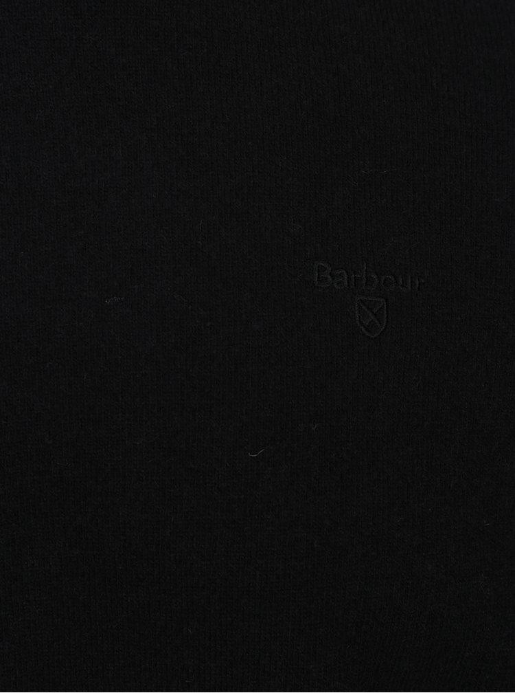 Černý lehký vlněný svetr Barbour Essential Lambswool