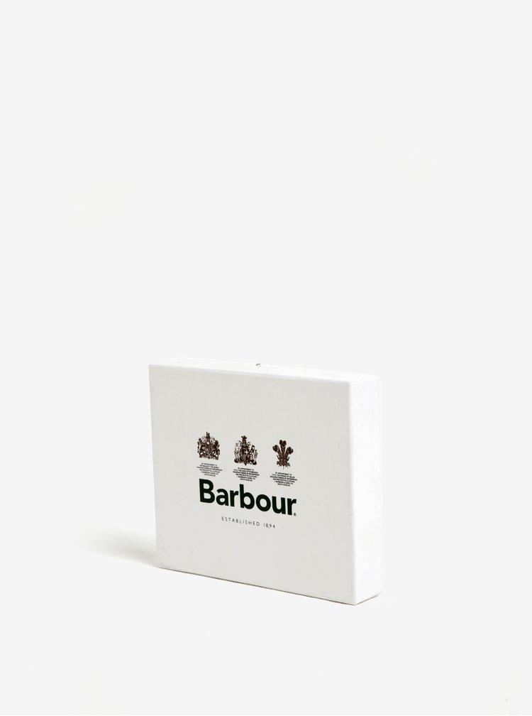 Portofel din piele naturala maro inchis pentru barbati -  Barbour Grain