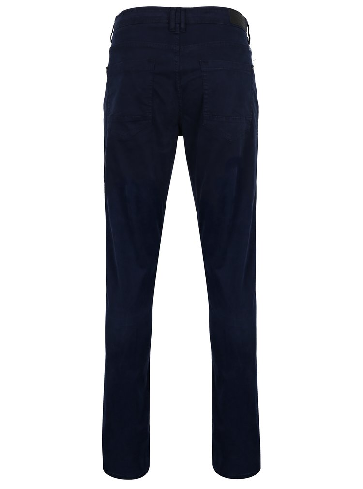 Tmavě modré slim fit kalhoty Blend