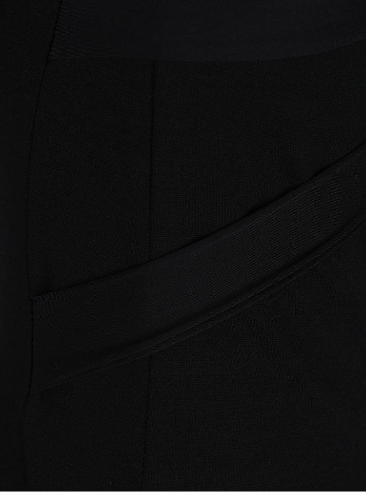 Černé pouzdrové šaty s pásky na zádech ZOOT