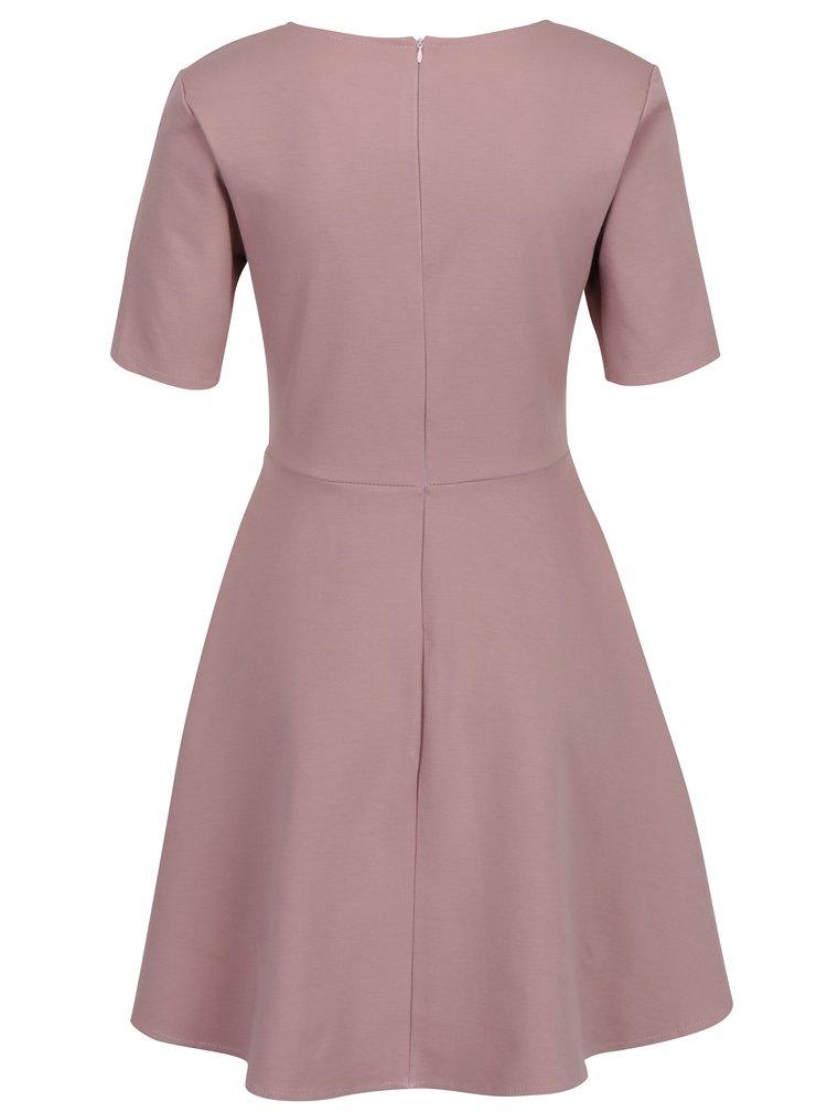 Starorůžové šaty s áčkovou sukní ZOOT