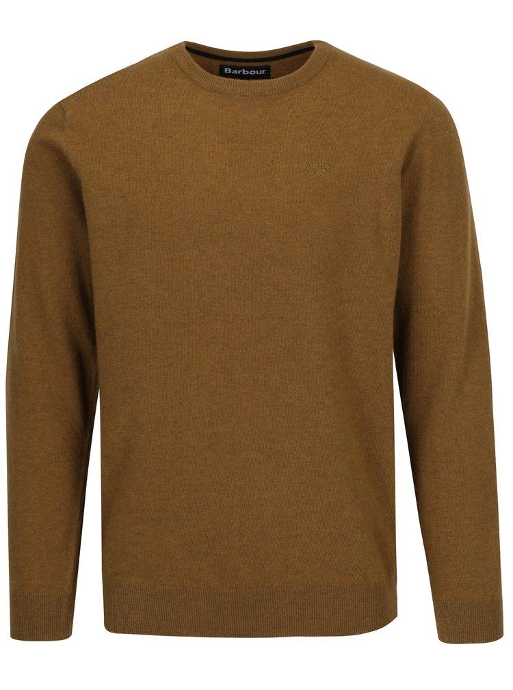 Hořčicový lehký vlněný svetr Barbour Essential Lambswool