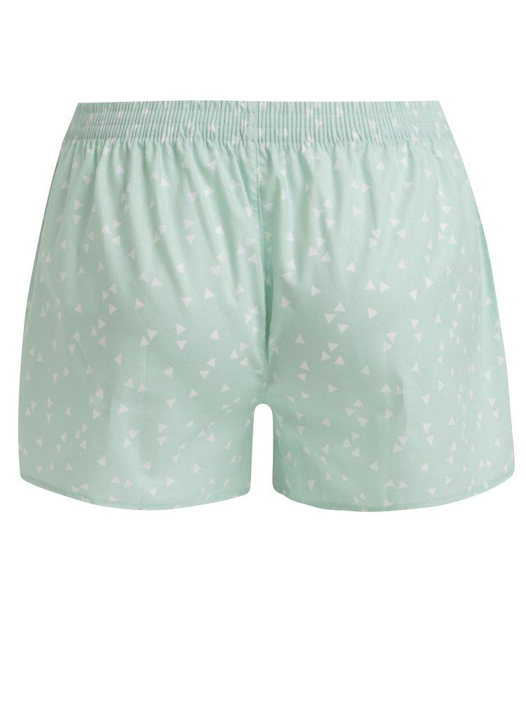 Zelené dámské trenky s trojúhelníky El.Ka Underwear