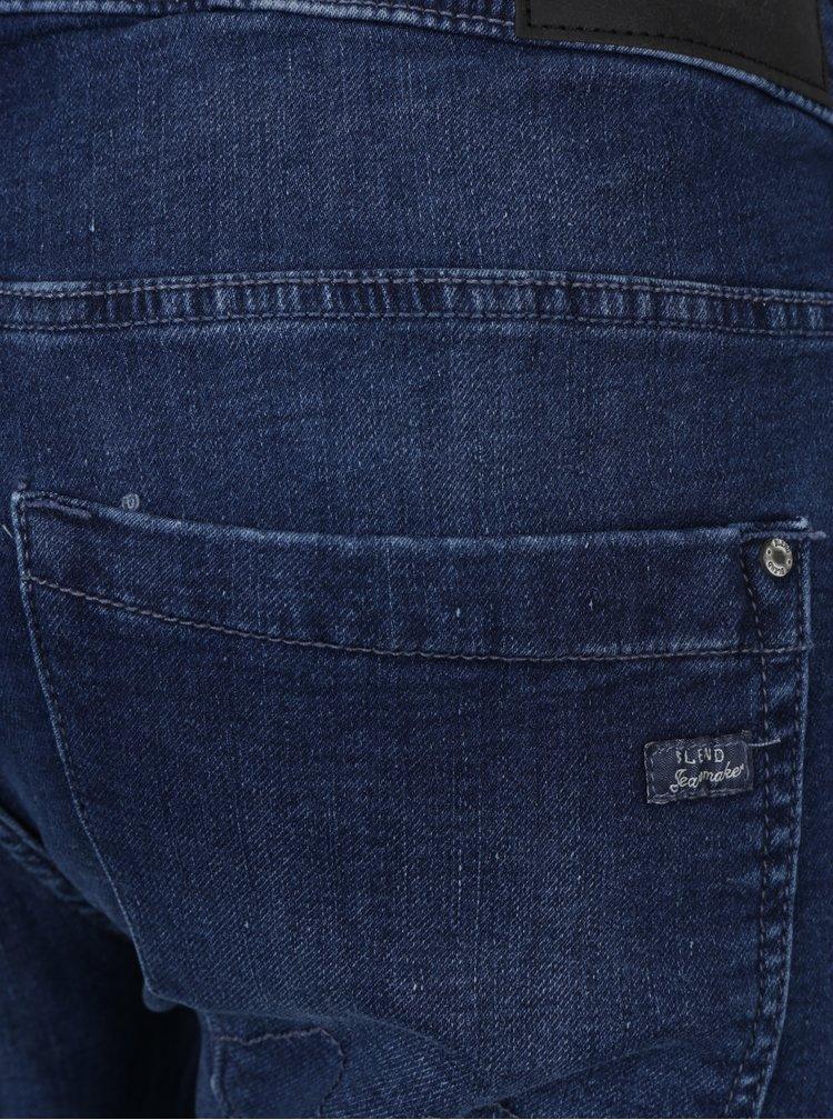 Blugi skinny albastri cu aspect prespalat - Blend