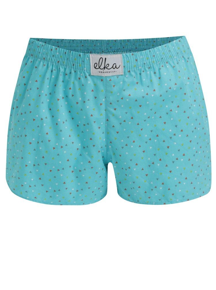 Tyrkysové dámské trenky s trojúhelníčky El.Ka Underwear