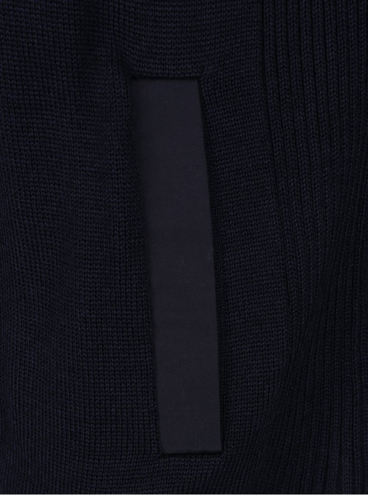 Tmavě modrý vlněný svetr Barbour Spate