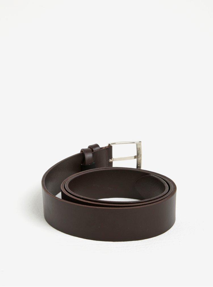 Hnědý pánský kožený pásek ZOOT