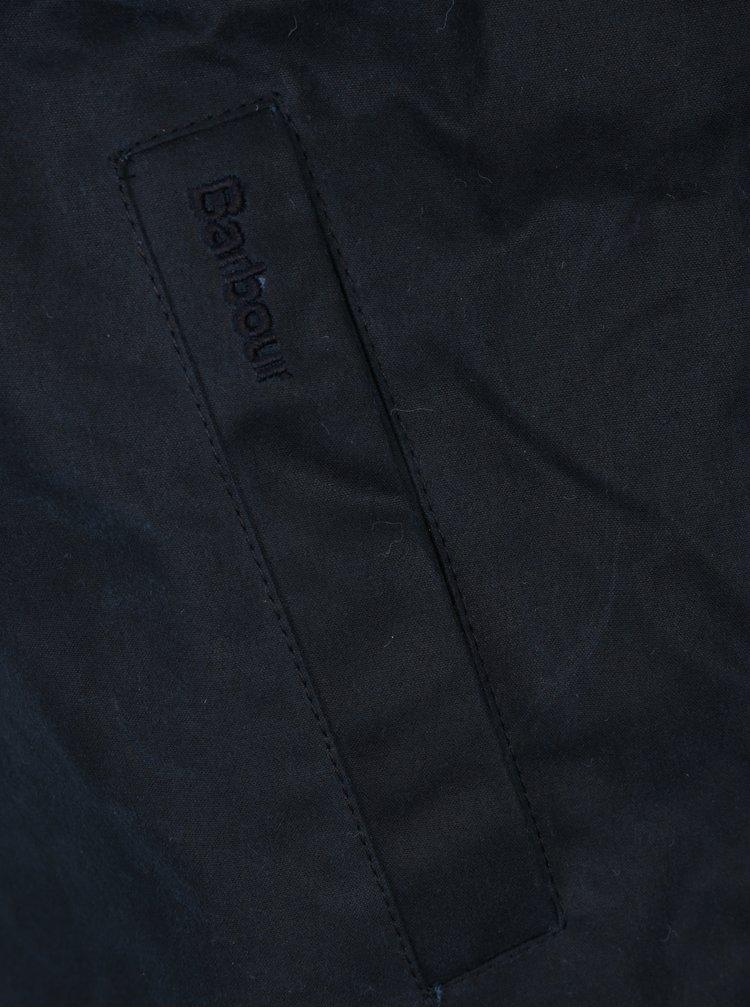 Tmavě modrá povoskovaná zimní bunda Barbour Duxbury