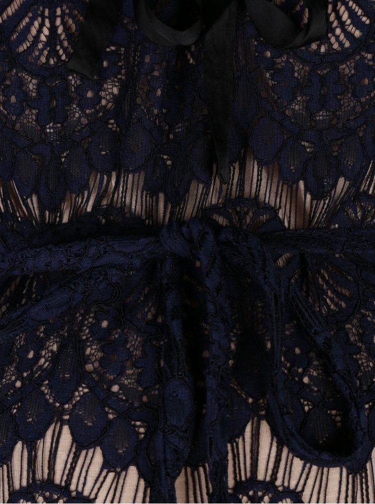 Tmavě modré krajkové těhotenské šaty Mama.licious Nardin