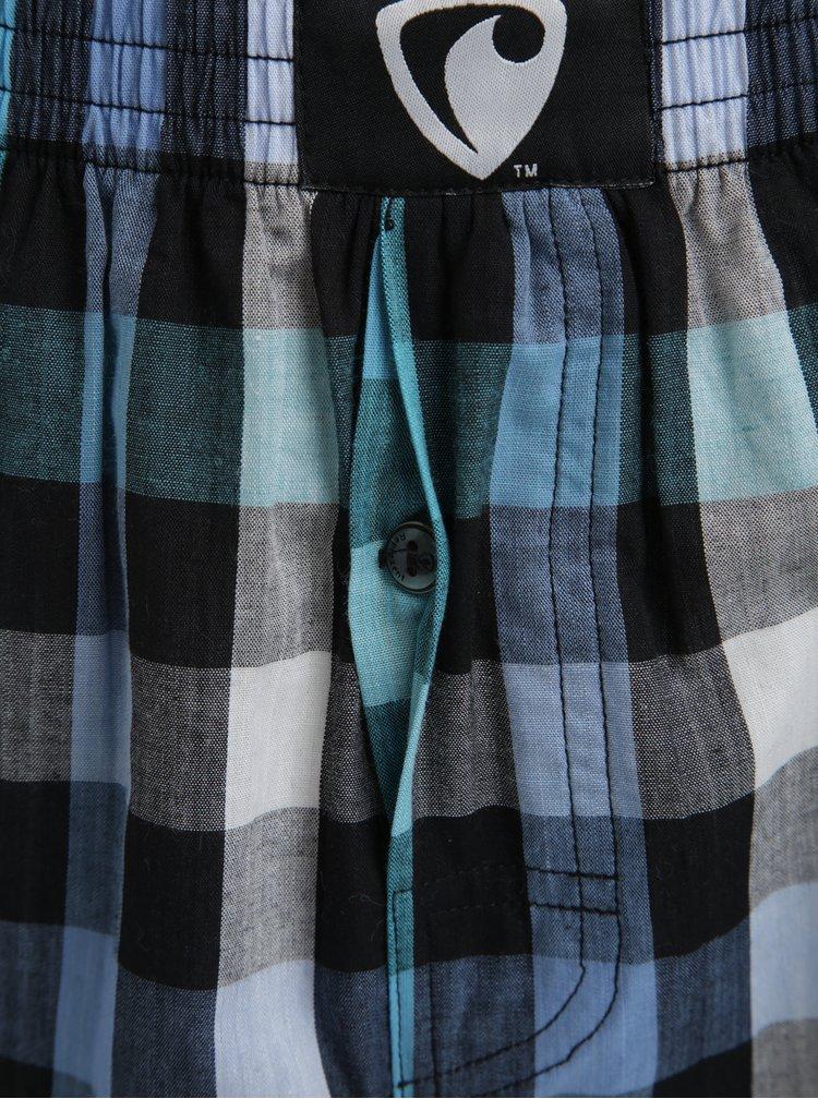Boxeri bleu & gri cu print in carouri - Represent Classic