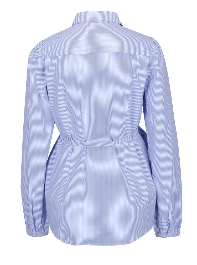 Modro-bílá pruhovaná těhotenská košile Mama.licious Abanda