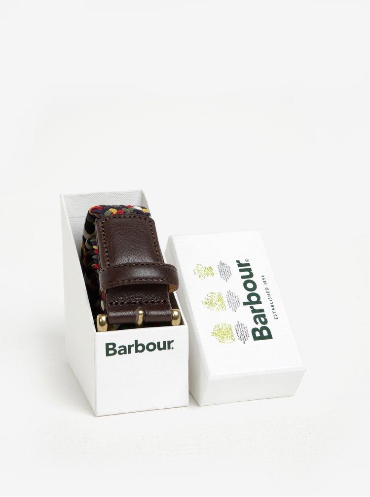 Curea impletita multicolora pentru barbati - Barbour Tartan