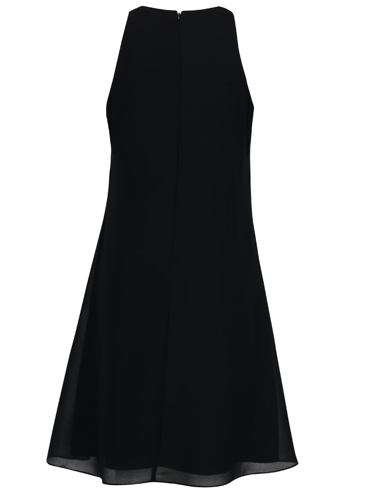 Černé šaty s krajkovou nášivkou a korálky Dorothy Perkins