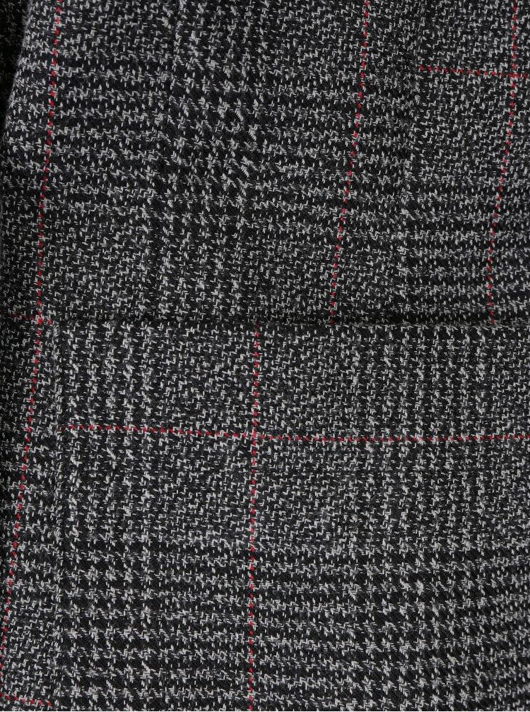 Černo-bílé kostkované sako Miss Selfridge