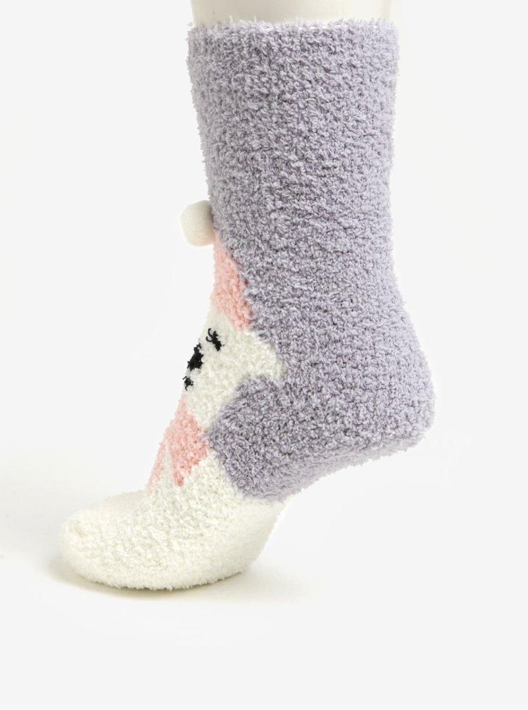 Sada dvou párů ponožek s motivem medvěda a puntíků Dorothy Perkins