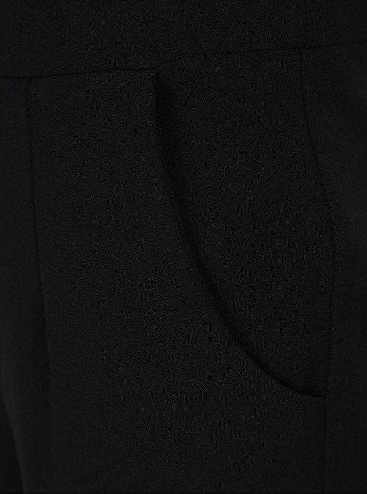 Černý overal s průsvitnými detaily a průstřihem na zádech Scarlett B