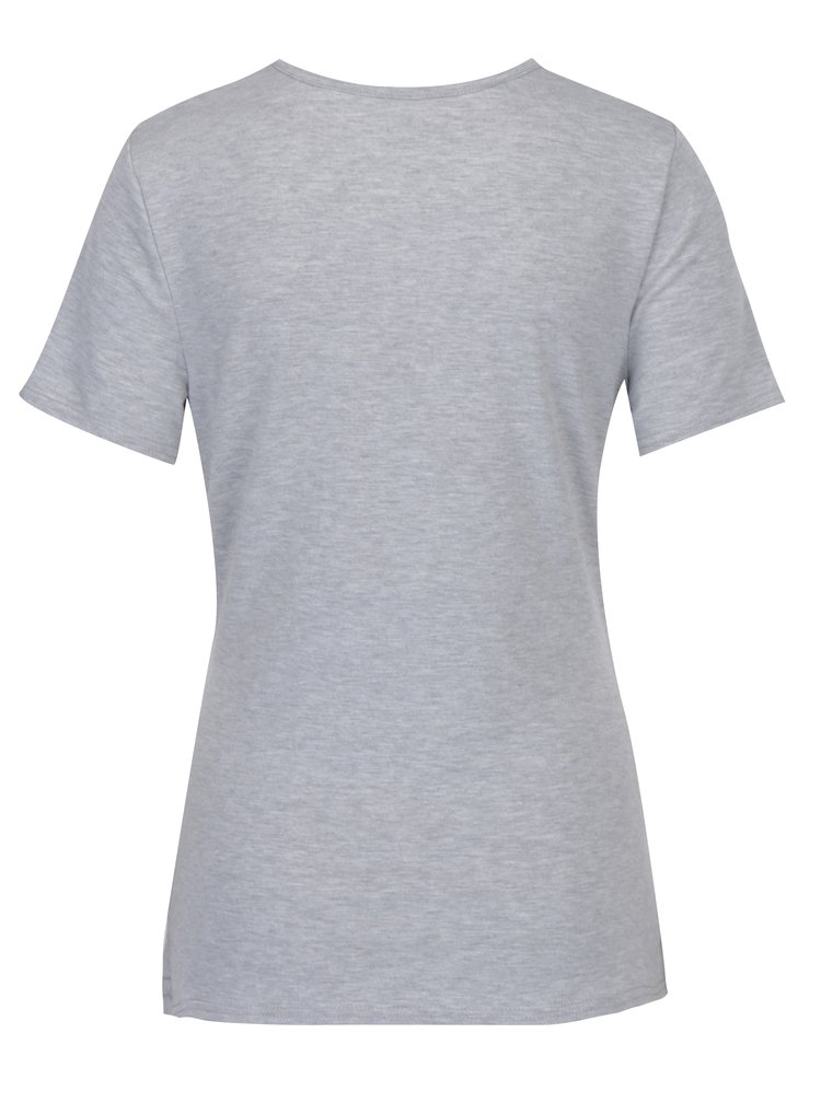 Šedé těhotenské tričko s potiskem Dorothy Perkins Maternity