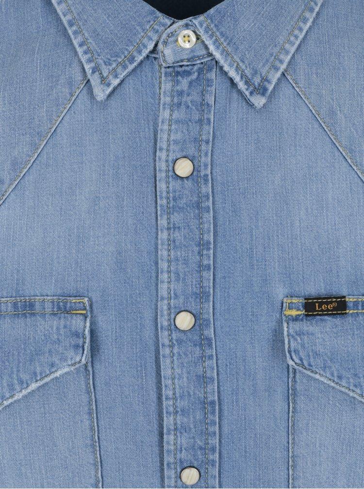 Camasa slim fit albastra din denim pentru barbati - Lee