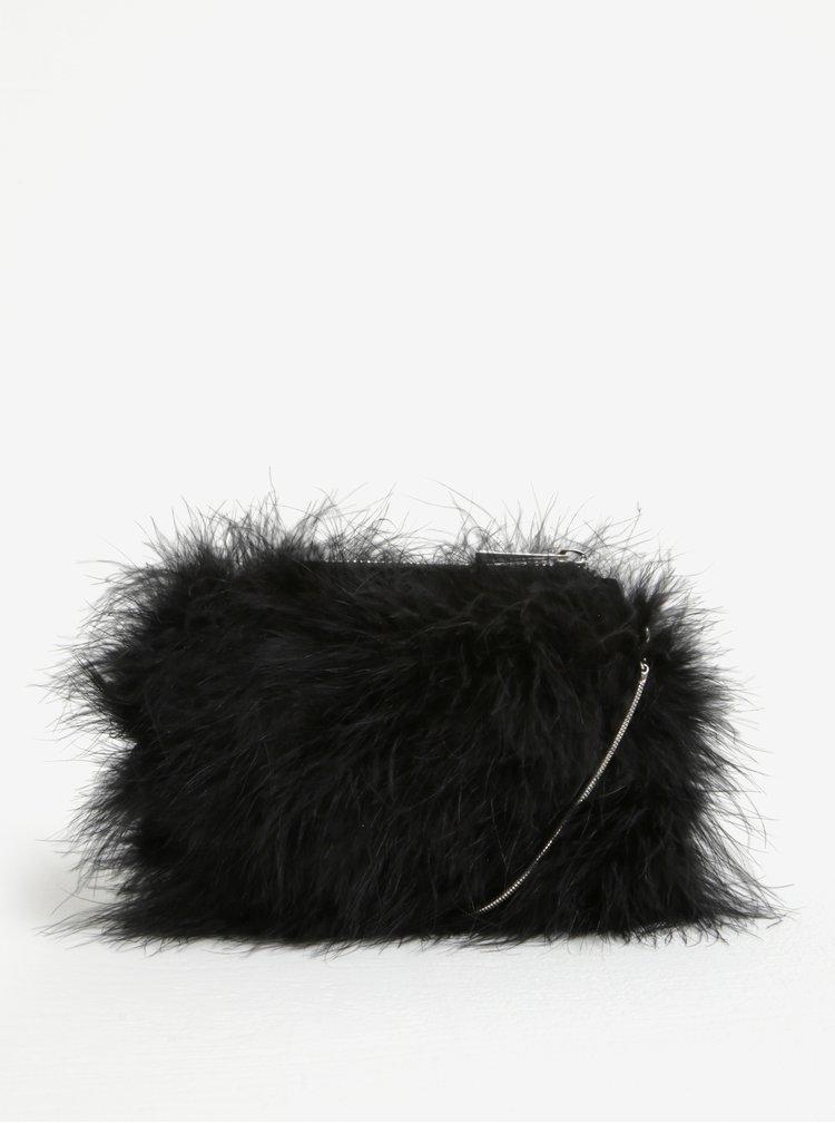Černá crossbody kabelka s peřím Miss Selfridge