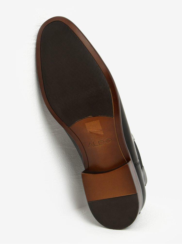 Čierne pánske kožené chelsea topánky ALDO Aradowen
