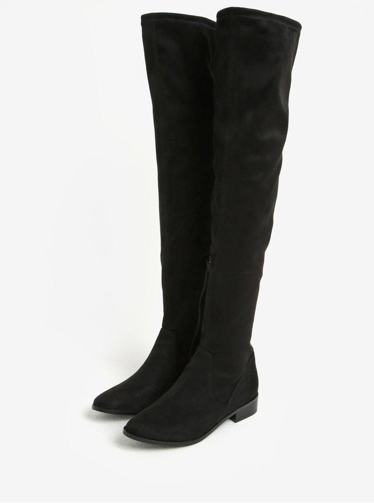 Cizme negre inalte peste genunchi cu fermoar - ALDO Elinna