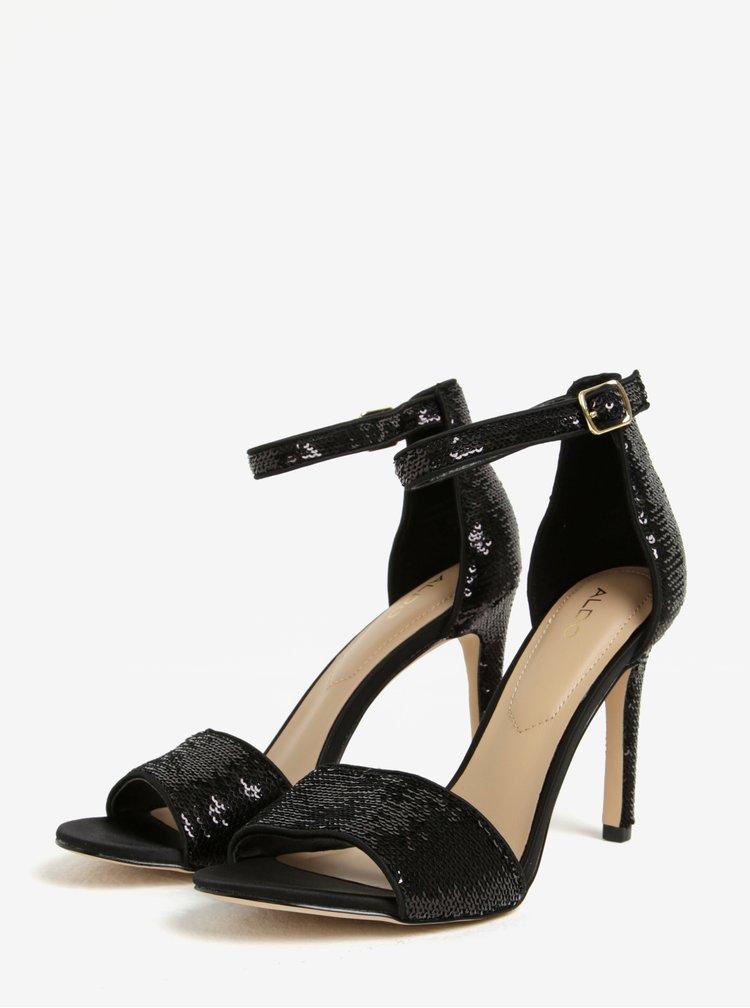 Čierne sandáliky s flitrami ALDO Fiolla