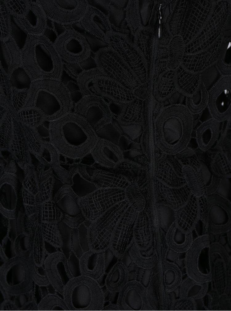 Černé krajkové midi šaty VILA Dalton