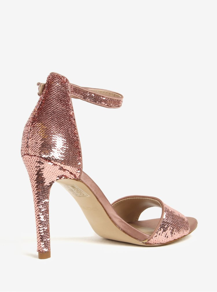 Růžové sandálky s flitry ALDO Fiolla