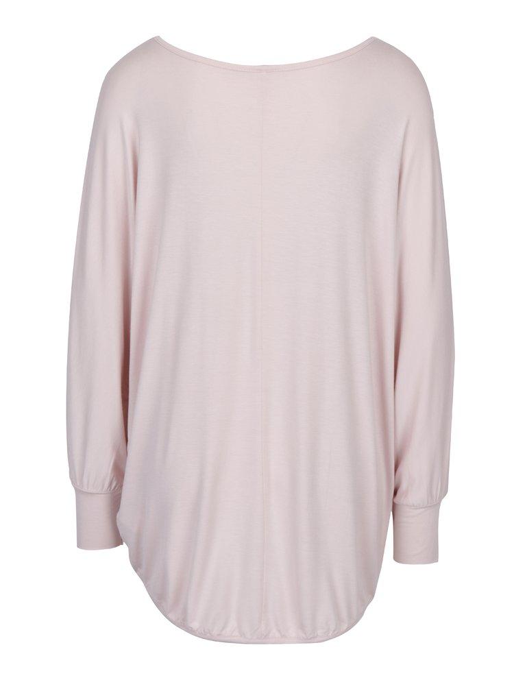 Světle růžové volné tričko Madonna