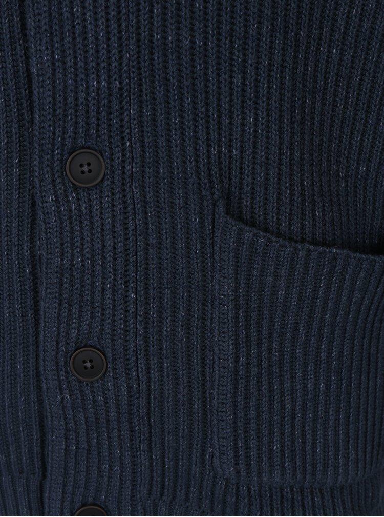 Cardigan tricotat cu buzunare albastru inchis - Jack & Jones Orson