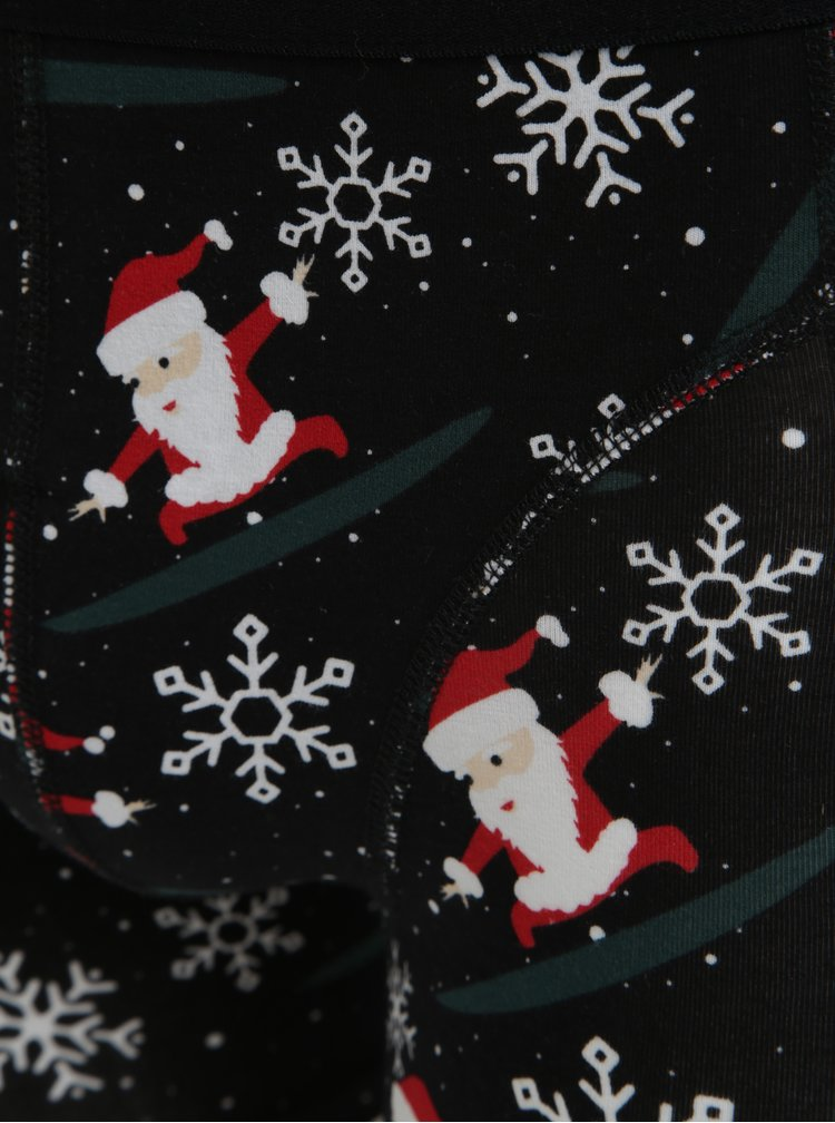 Súprava dvoch párov ponožiek a boxeriek v čiernej a sivej farbe Jack & Jones X-MAS