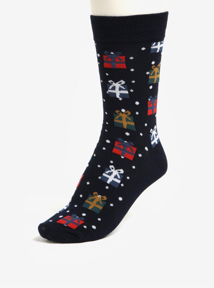 Set dvou párů ponožek a boxerek v červené a modré barvě Jack & Jones X-MAS