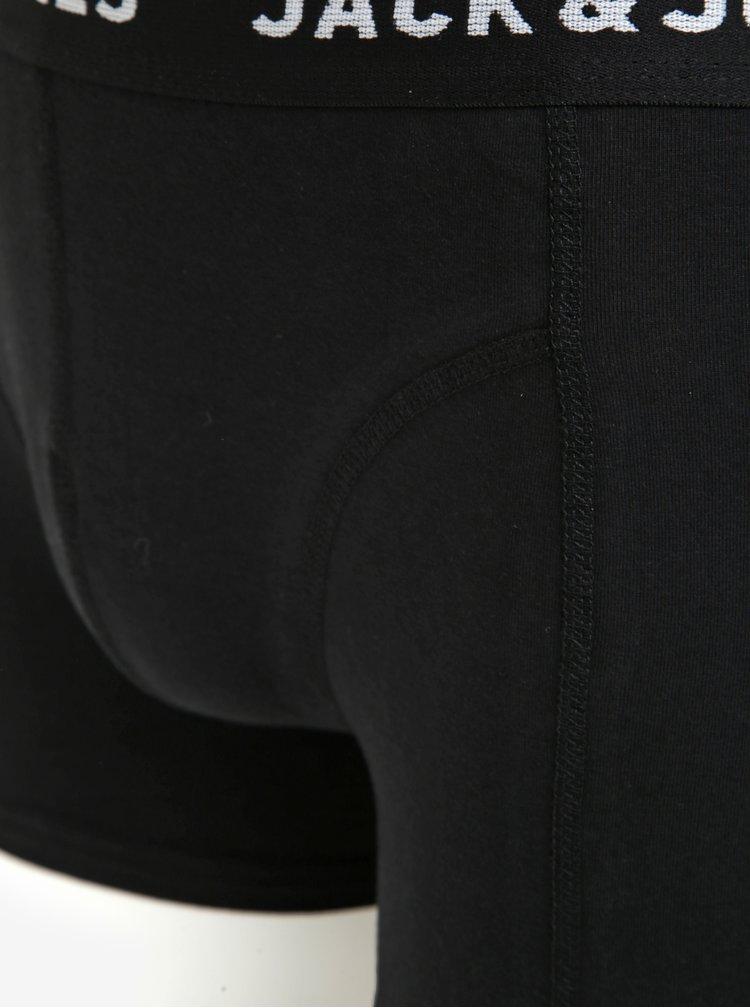Set de 3 perechi de boxeri rosu & negru cu motiv de Craciun -  Jack & Jones Renideer