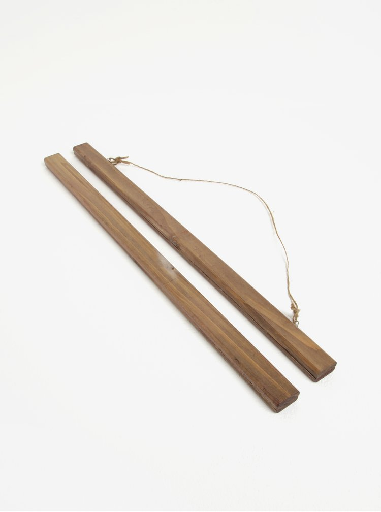Hnědý dřevěný držák na plakáty Sass & Belle