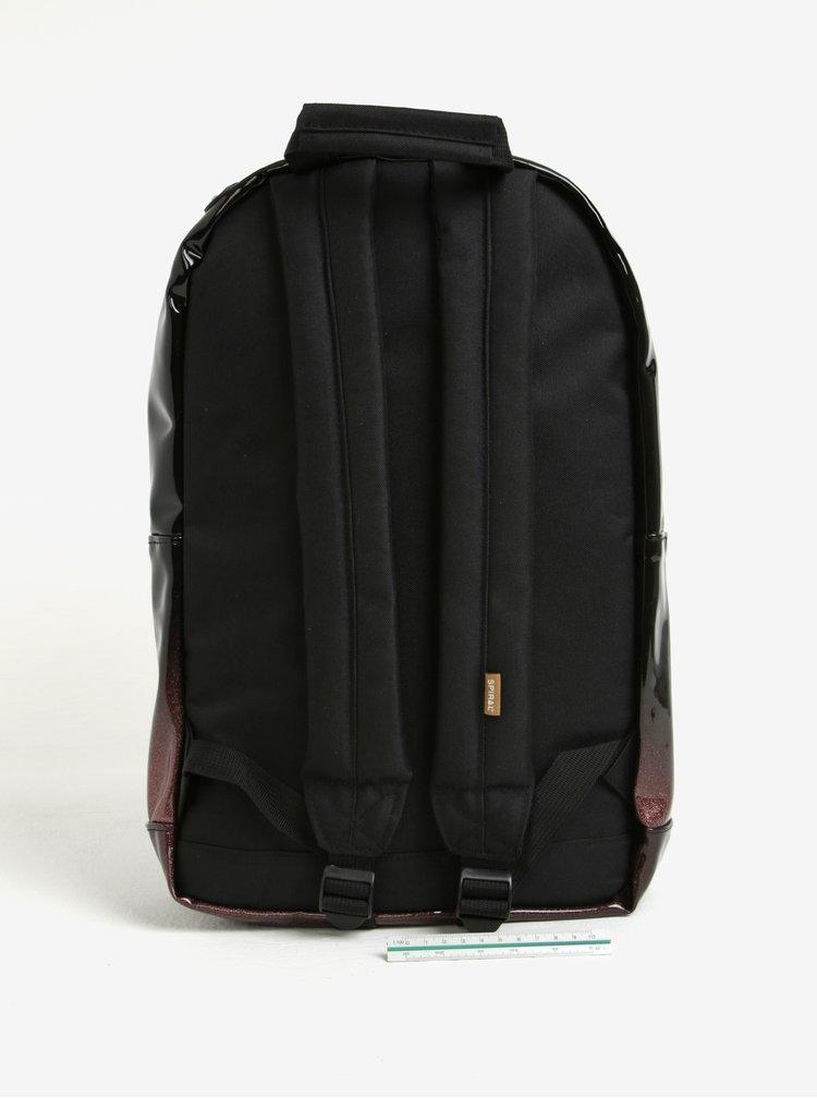 Černo-hnědý lesklý batoh Spiral Glitter Fade 18 l