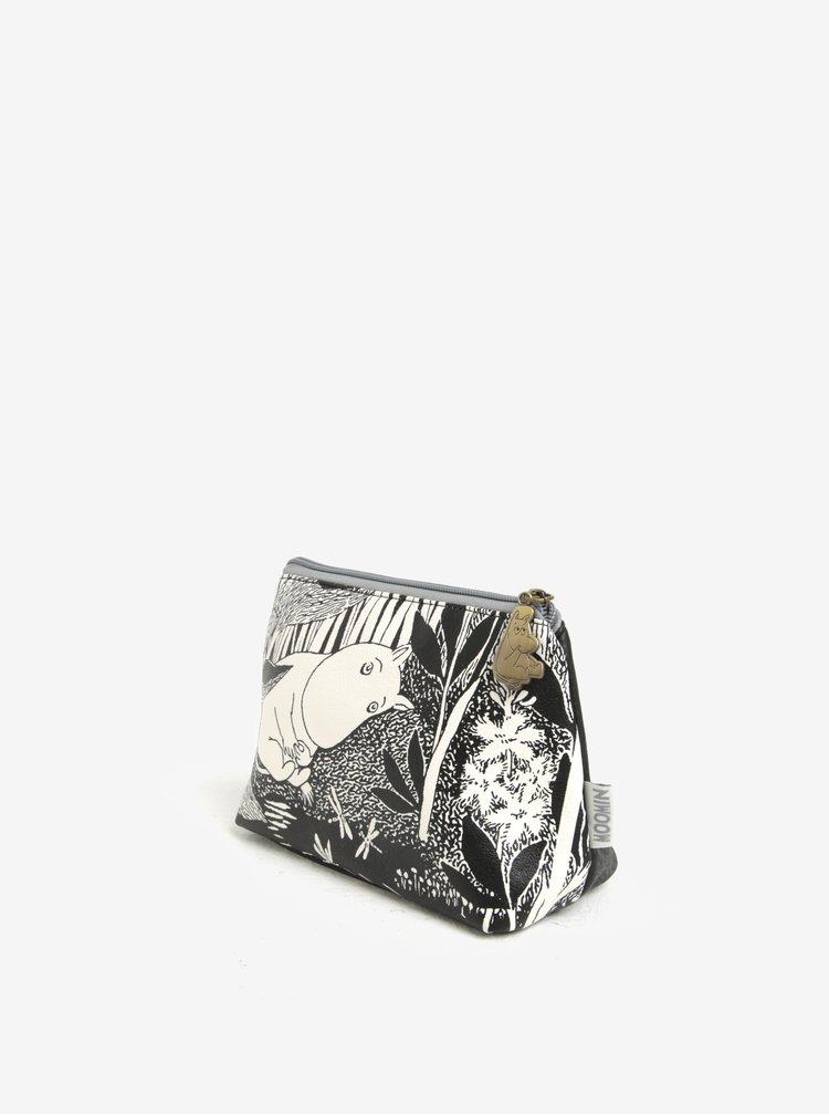 Bílo-černá kosmetická taštička Disaster Moomin Midwinter