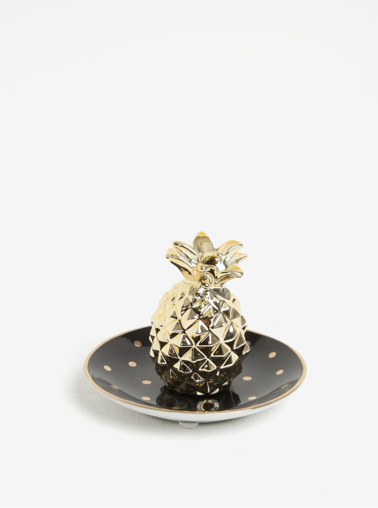 Miska na šperky v černo-zlaté barvě Sass & Belle