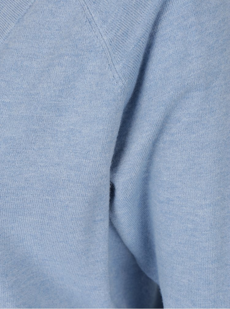 Světle modrý svetr s véčkovým výstřihem VERO MODA Karis