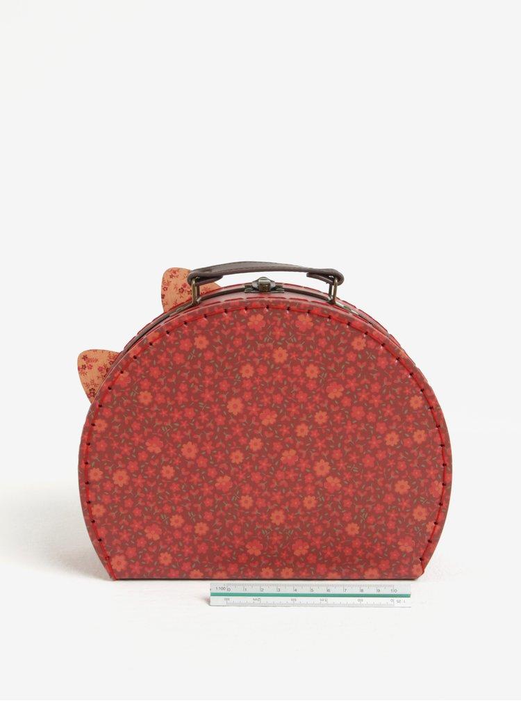 Sada dvou červených kufříků ve tvaru lišky Sass & Belle