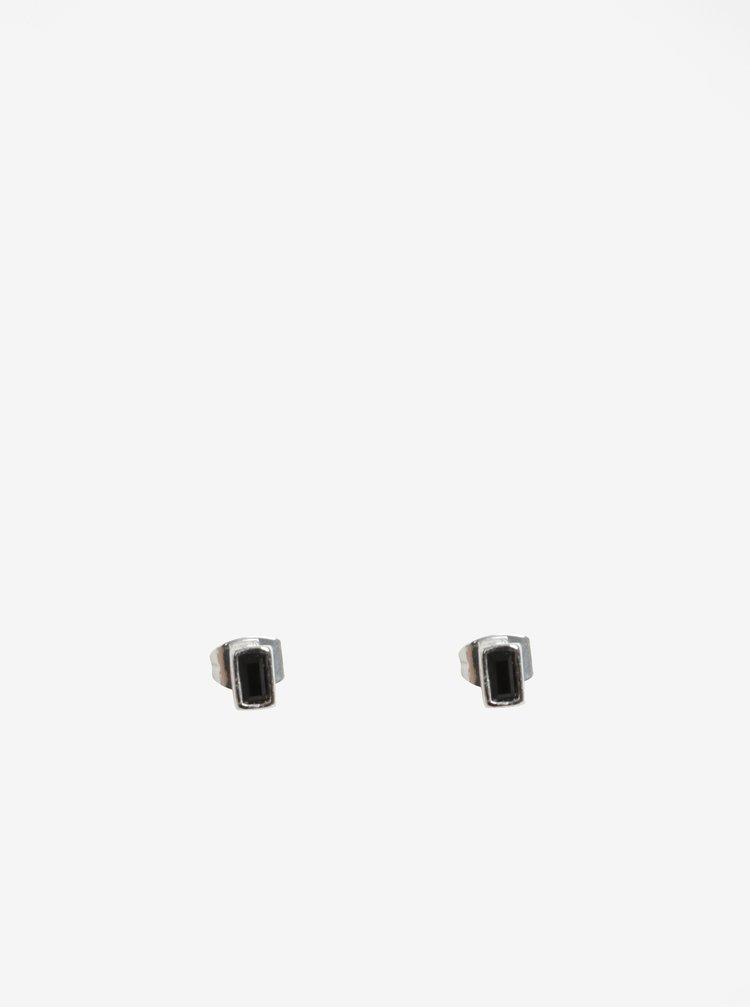Sada tří párů náušnic ve stříbrné barvě Pieces Rolla